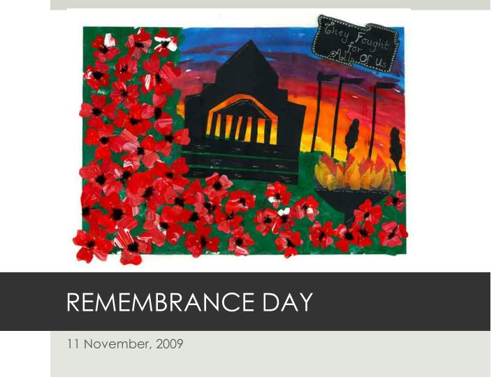 remembrance day n.