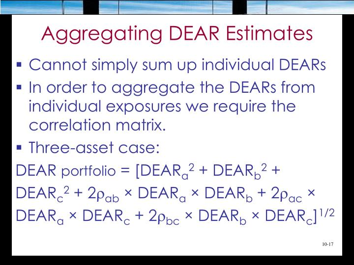 Aggregating DEAR Estimates