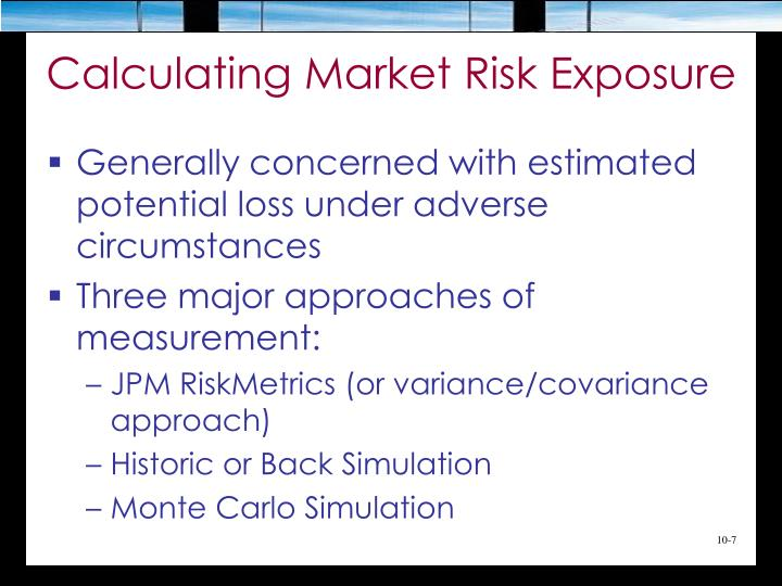 Calculating Market Risk Exposure