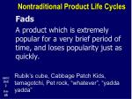 nontraditional product life cycles3