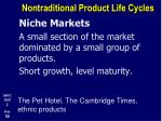 nontraditional product life cycles8