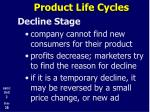 product life cycles20