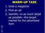 warm up task