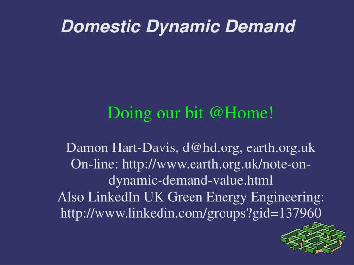 domestic dynamic demand n.
