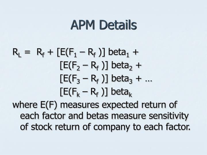 APM Details