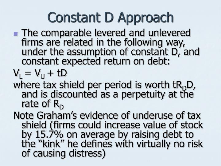 Constant D Approach