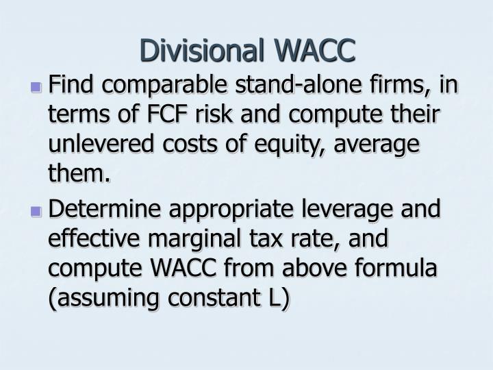 Divisional WACC
