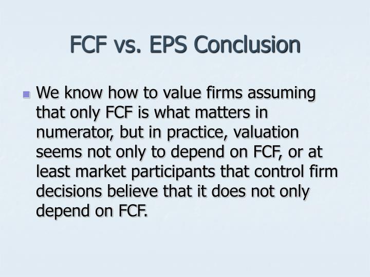 FCF vs. EPS Conclusion