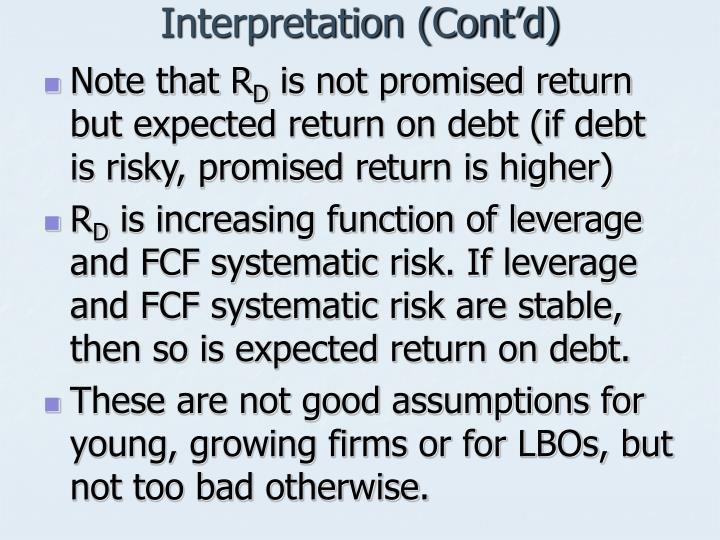 Interpretation (Cont'd)