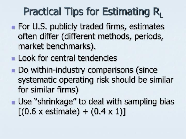 Practical Tips for Estimating R