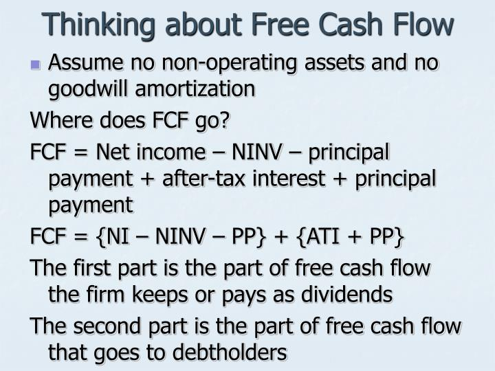 Thinking about Free Cash Flow