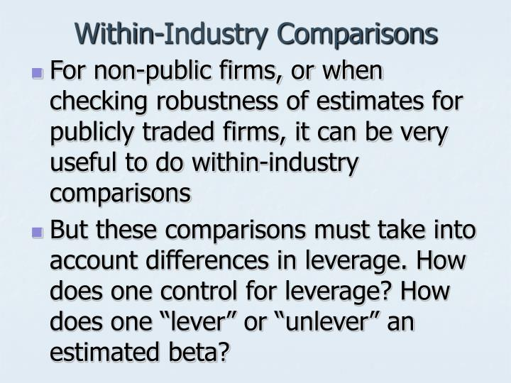 Within-Industry Comparisons
