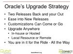 oracle s upgrade strategy