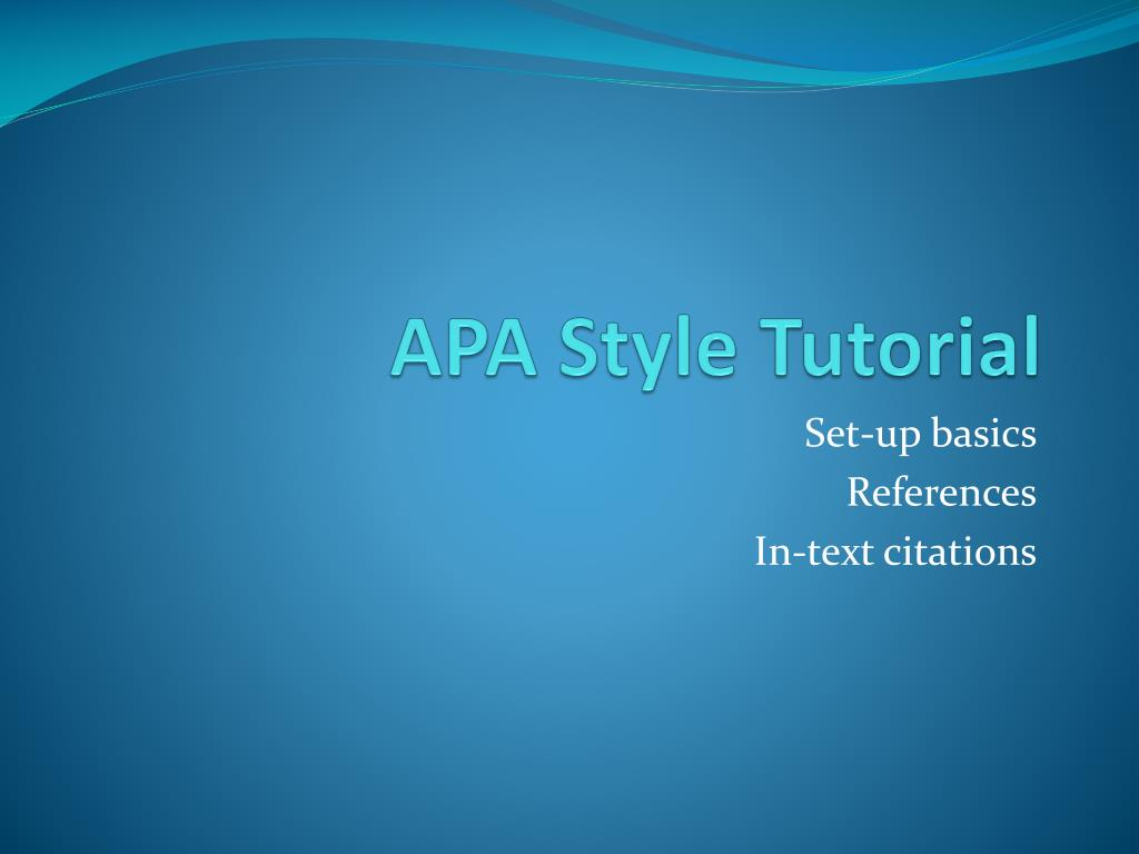 ppt apa style tutorial powerpoint presentation id 6097551