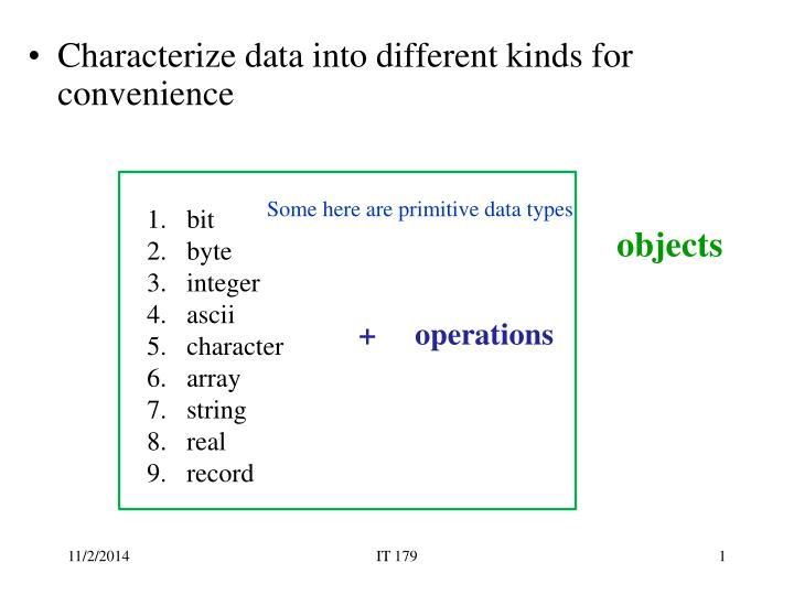 some here are primitive data types n.