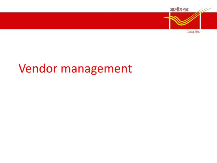 vendor management n.