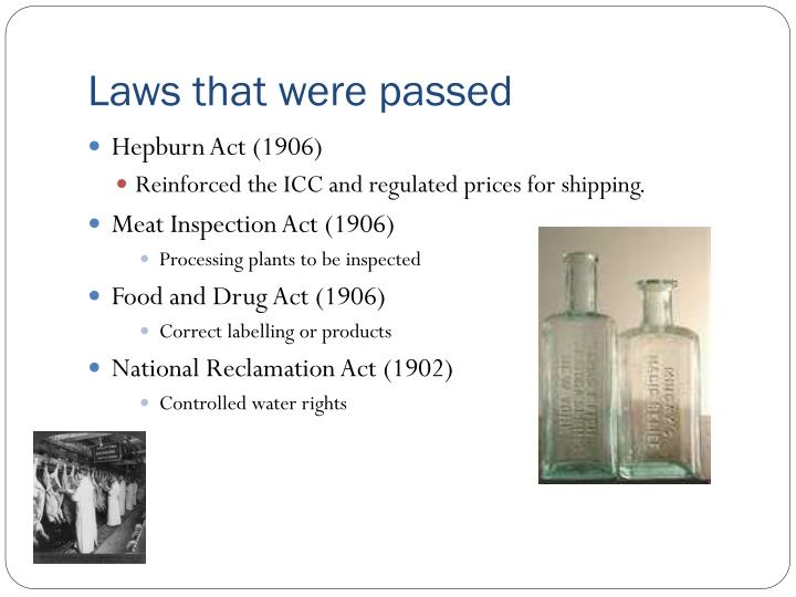 Laws that were passed