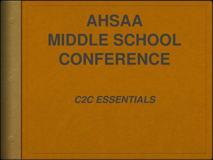 ahsaa middle school conference n.