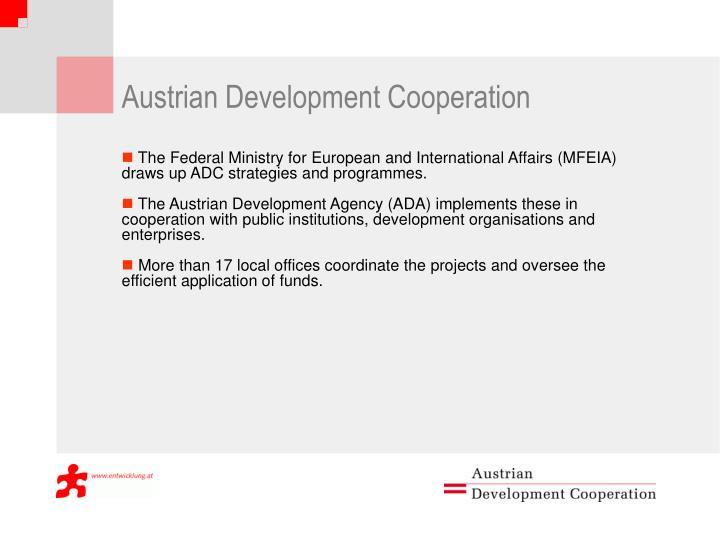 A ustrian development cooperation