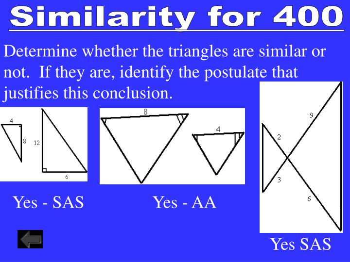 Similarity for 400
