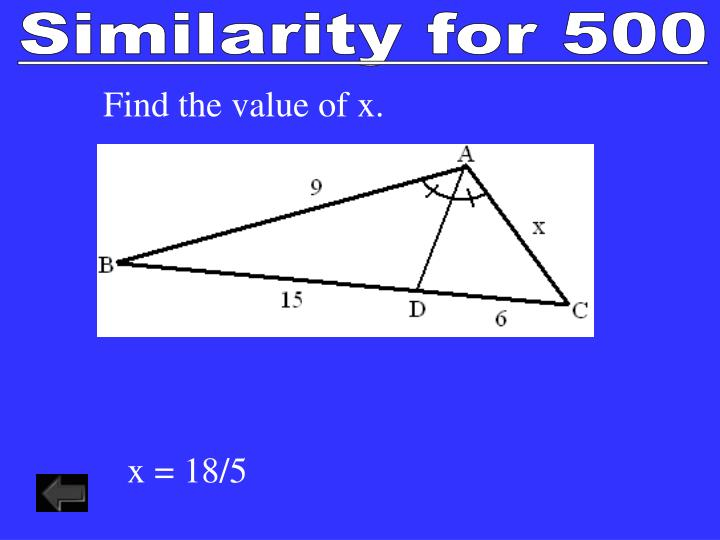 Similarity for 500