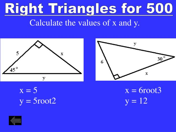 Right Triangles for 500