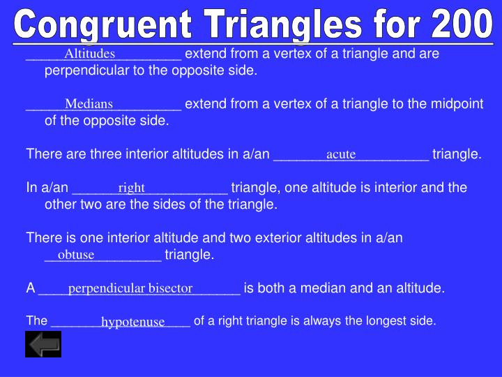 Congruent Triangles for 200