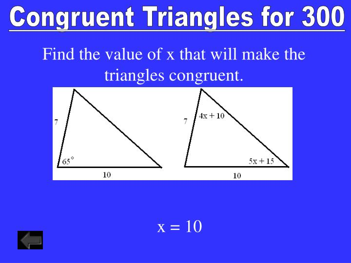 Congruent Triangles for 300