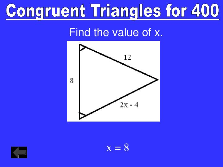 Congruent Triangles for 400