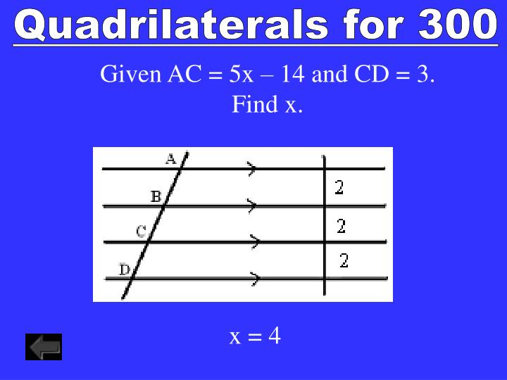 Quadrilaterals for 300
