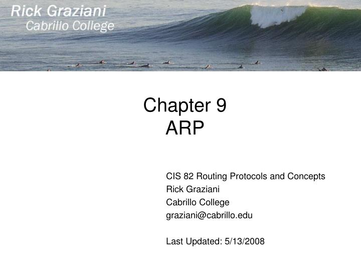 chapter 9 arp n.