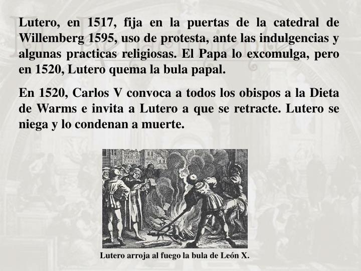Lutero arroja al fuego la bula de León X