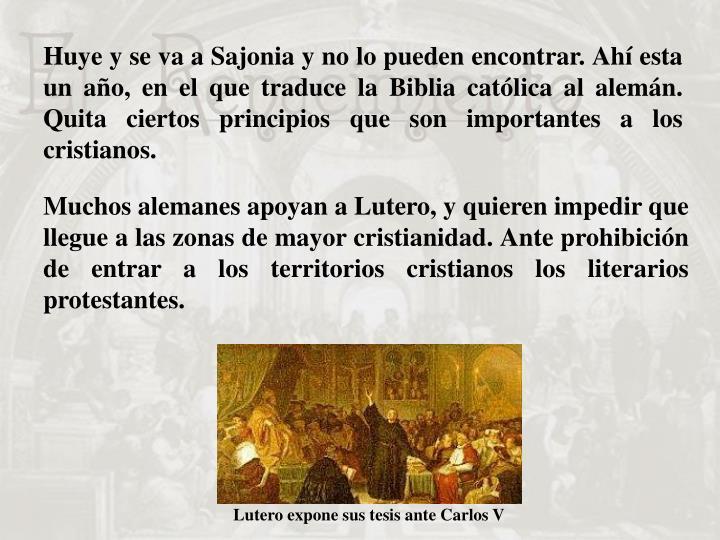 Lutero expone sus tesis ante Carlos V