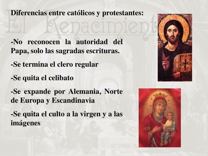 Diferencias entre católicos y protestantes: