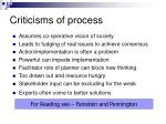 criticisms of process