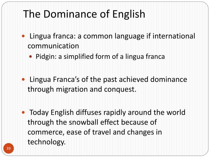 The Dominance of English