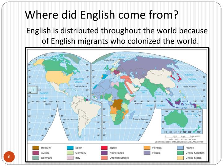 Where did English come from?