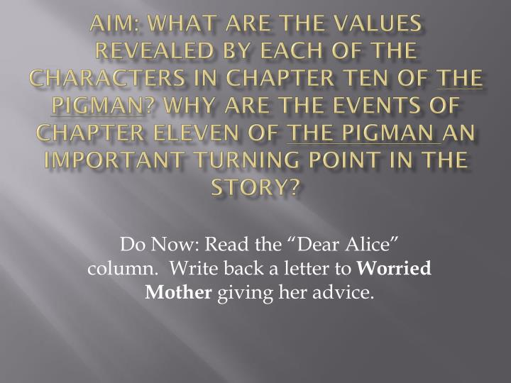do now read the dear alice column write back a letter to worried mother giving her advice