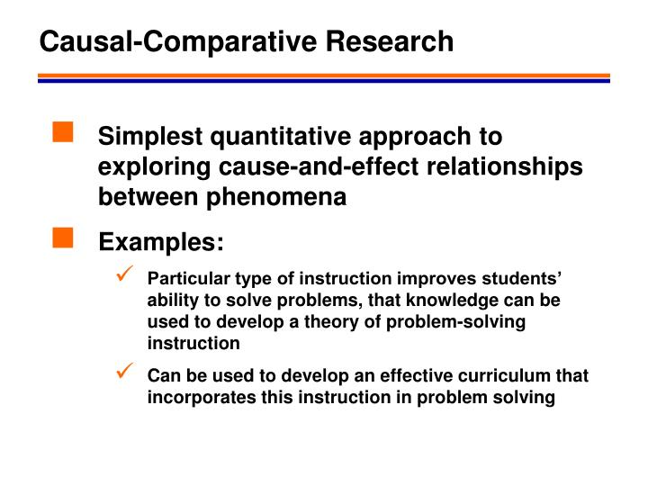 casual comparative research The occam research program entails two categories of interrelated  the  establishment of causal relations between educational policy and outcomes  of  the international comparative studies of educational achievement around the  globe.