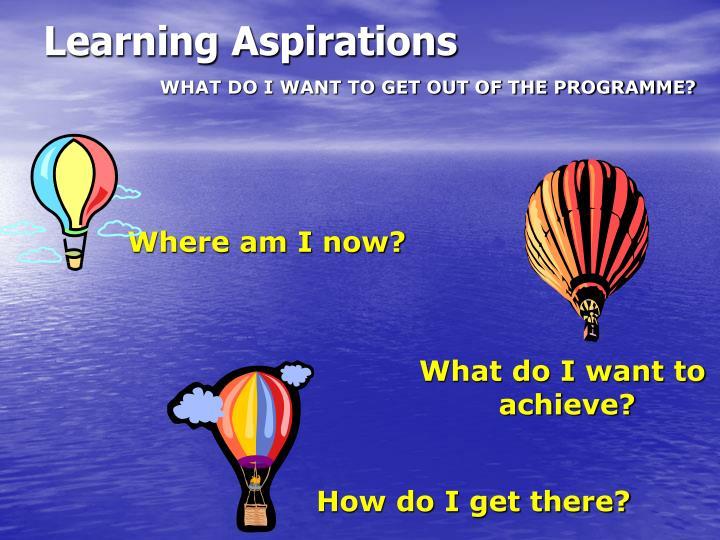 Learning Aspirations