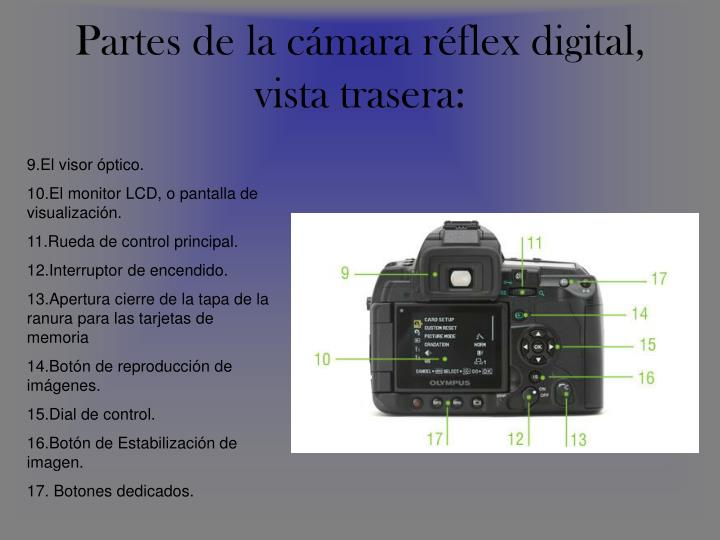 PPT - Partes de la cámara réflex analógico exterior: PowerPoint ...