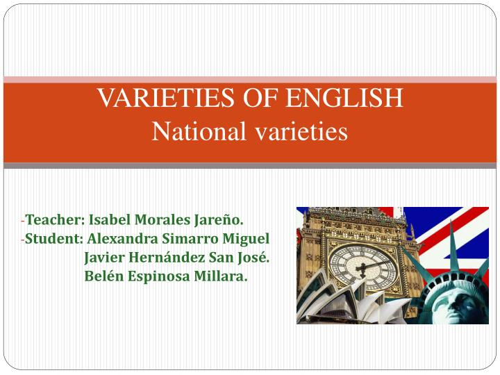 varieties of english national varieties n.