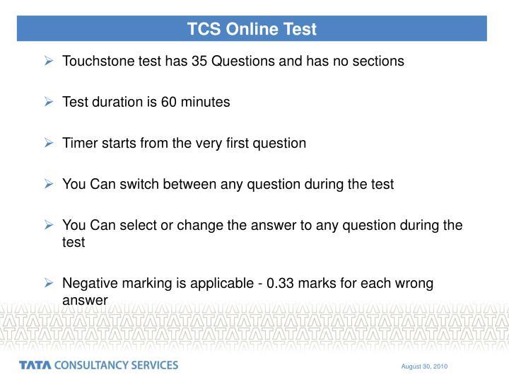 TCS Online Test
