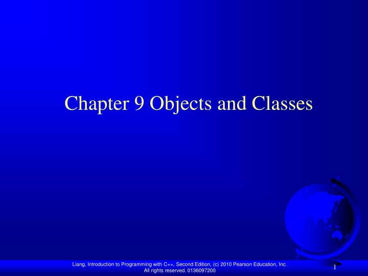chapter 9 objects and classes n.