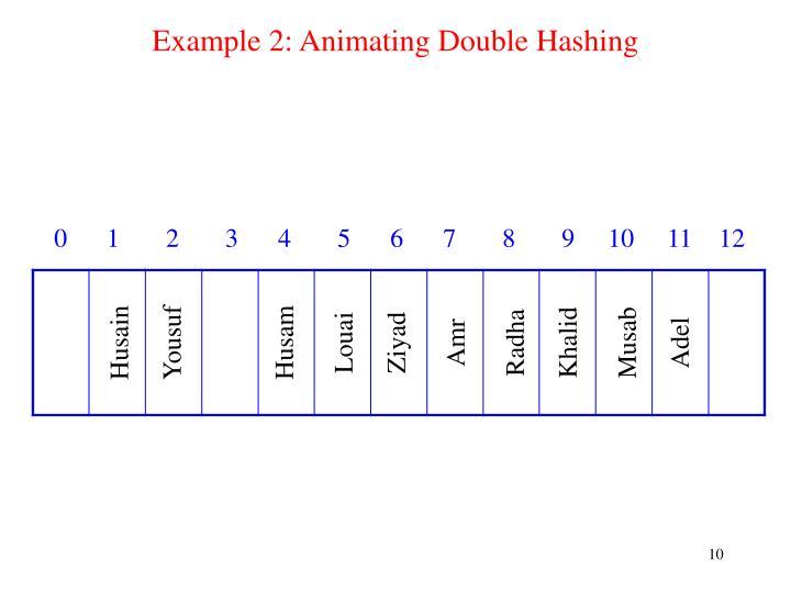 Example 2: Animating Double Hashing