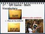 3 rd qr game math vocabulary