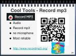 cool tools record mp3