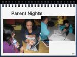 parent nights