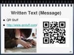 written text message
