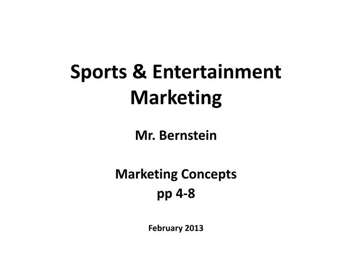 sports entertainment marketing n.